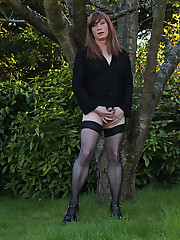 Lucimay loves to get her tgirl cock out when she is outdoors