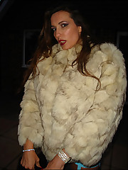 Jane looks great in fur and stockings